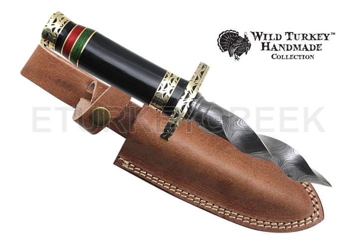 Wild Turkey Handmade Spiraling Stainless Steel Dagger